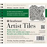 "Strathmore 105-975 400 Series Sketch Artist Tiles, Fine Tooth 6""x6"", 70 Sheets"