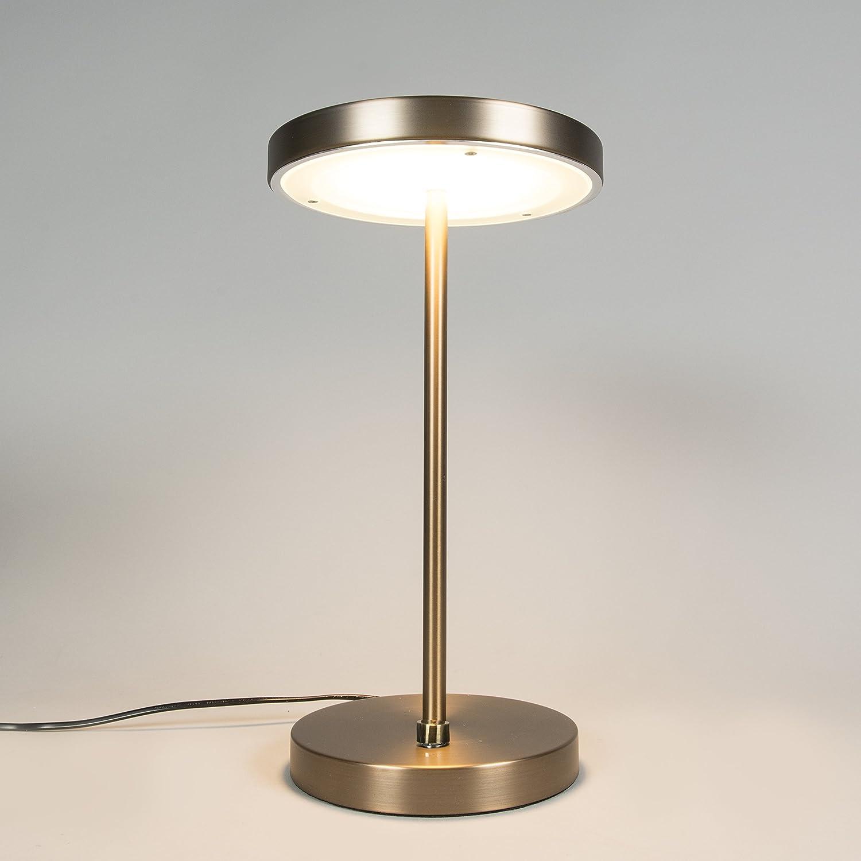 QAZQA Modern Tischleuchte Tischleuchte Tischleuchte Tischlampe Lampe Leuchte Disco bronze Dimmer Dimmbar Innenbeleuchtung Wohnzimmerlampe Schlafzimmer Glas Metall Rund   (nicht austauschbare) LED Max. 1 x 20 Wat dd680e