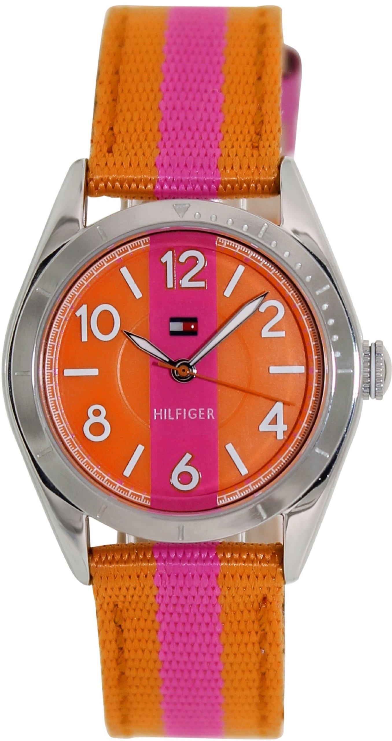 Tommy Hilfiger Classic Pink & Orange Strap Women's watch #1781296