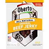 Oberto All Natural Original Beef Jerky, 3.25-Ounce Bag (Pack of 4)