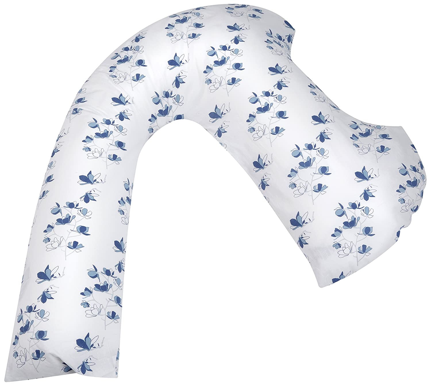 DreamGenii Spare Pillow Cover for Dreamgenii Pregnancy Pillow (Blue Oriental Blossom)