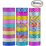 Washi Tape Set of 30 Rolls All Girls Favorite Creative Multi-purpose Masking Tape Great for Arts Crafts DIY - Multicolour