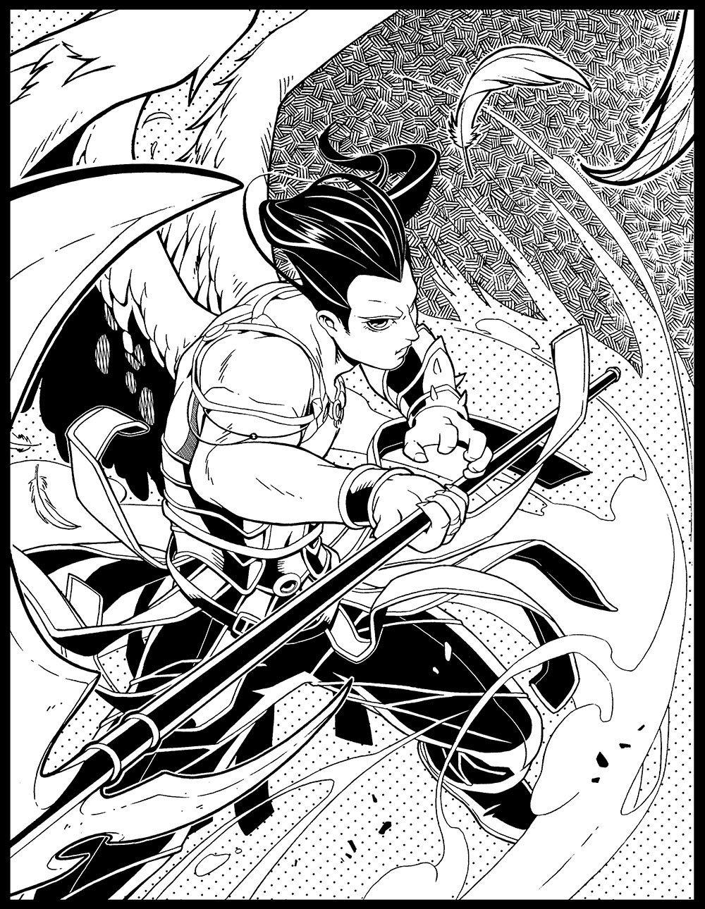 Dark Hunter Mikro Chasers Coloring Book Sherrilyn Kenyon Juno