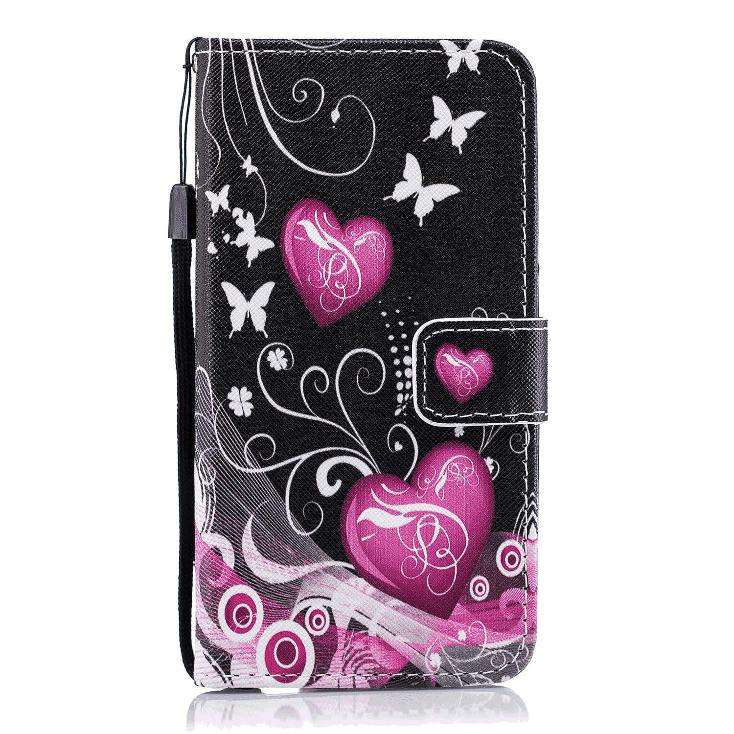 iPhone 8 Flip Case Cover for Leather Extra-Shockproof Business Card Holders Cell Phone case Kickstand Flip Cover