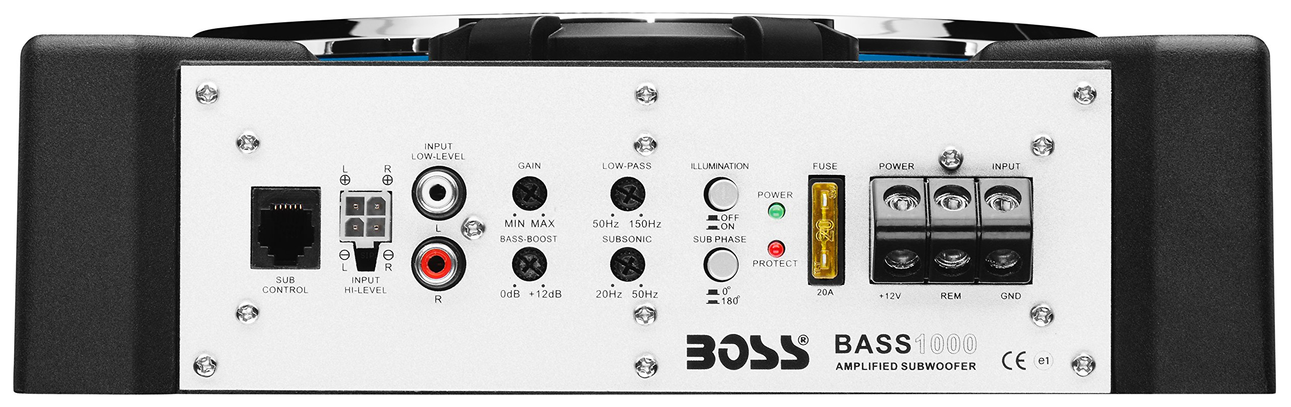 BOSS Audio BASS1000 1000 Watt Low Profile Amplified 8 Inch Subwoofer with Remote Subwoofer Control by BOSS Audio (Image #4)