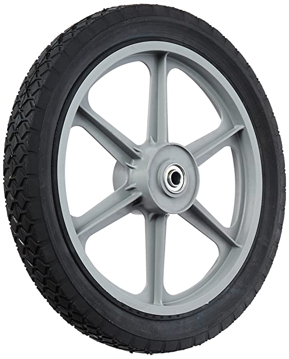 "MAXPOWER 335110 14"" x 1.75"" Spoked Plastic Wheel with Diamond Tread"