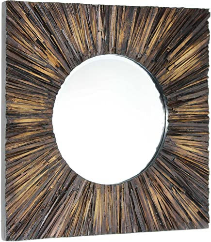 Gild Design House 02-00816 Fatima Mirror, One Size, Natural Wood