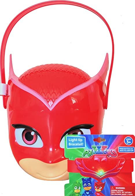 8aa75545dfa8d Amazon.com  Pj Masks Trick o Treat Candy Bucket With Pj Masks ...
