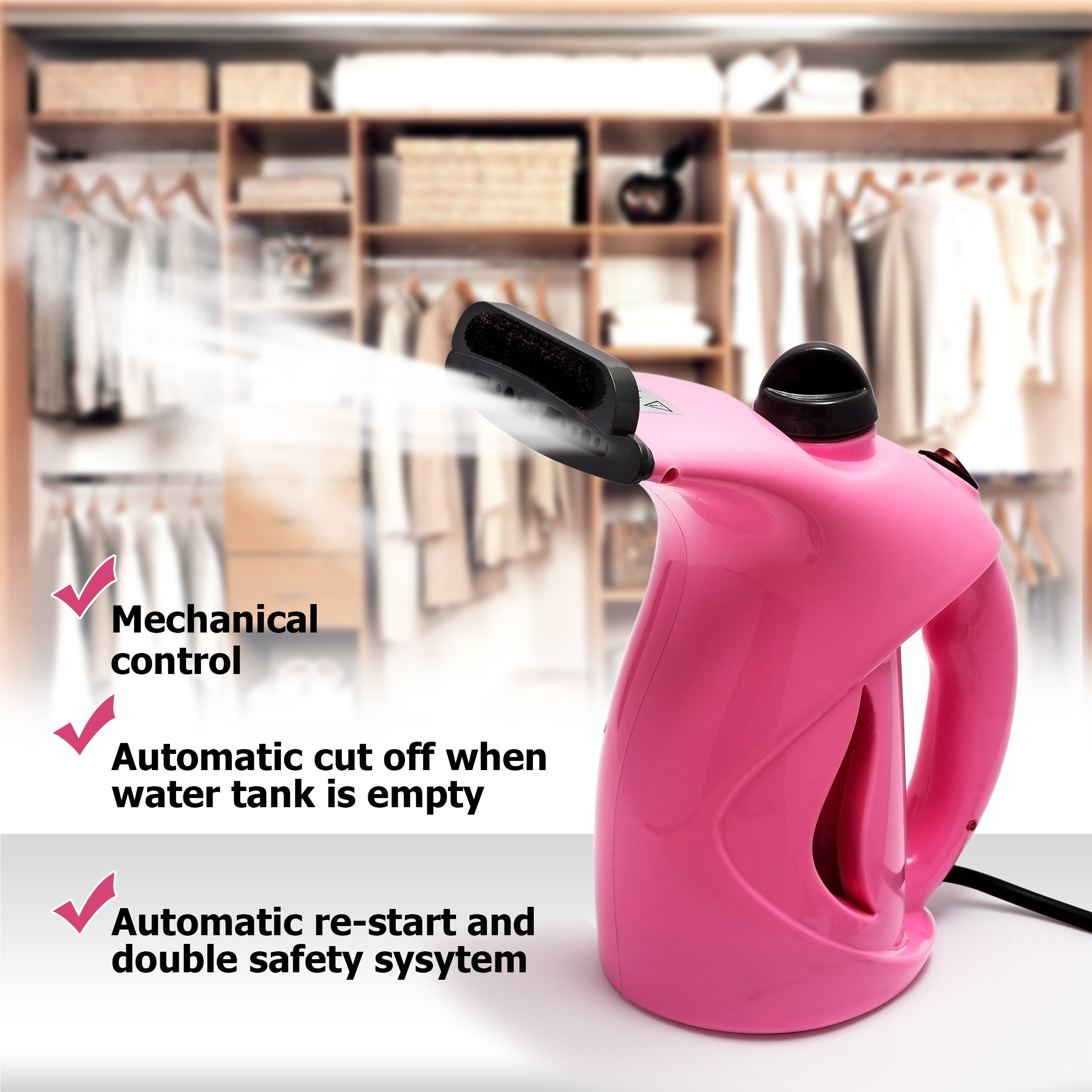 Business100 Portable Steamer, 200ML Portable Garment Steamer, Steamer for Clothes, Heat-up Premium Fabric Steam Cleaner, Safe, Lightweight & Perfect Clothing Steamer for Travel Home by Business100 (Image #8)