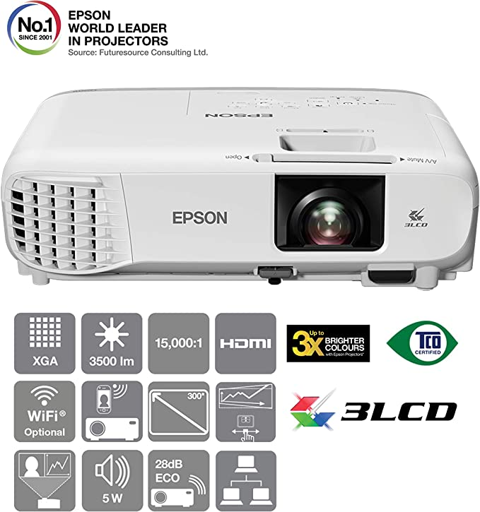 Epson EB-X39 Video - Proyector (3500 lúmenes ANSI, 3LCD, XGA ...