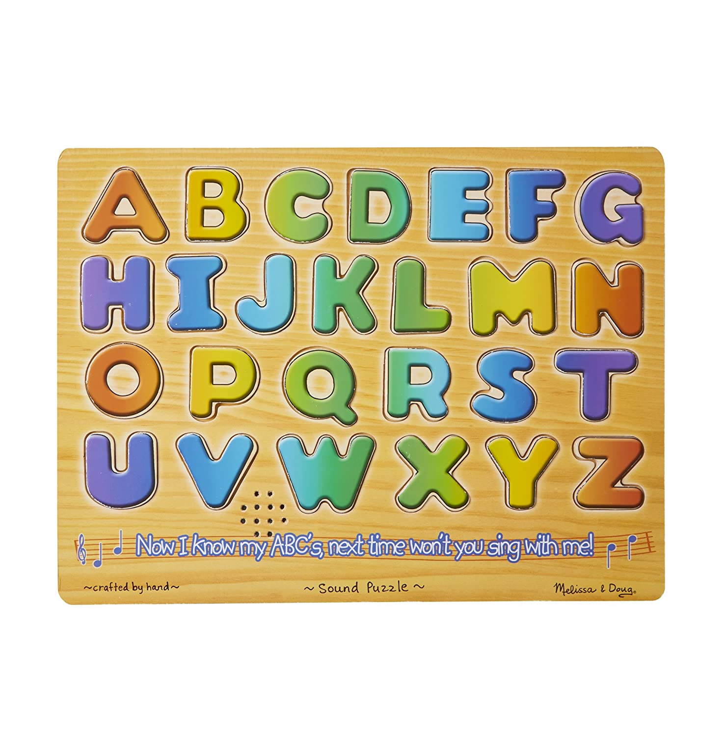 Melissa & Doug Alphabet Sound Puzzle - WoodenPuzzle With Sound Effects (26 pcs)