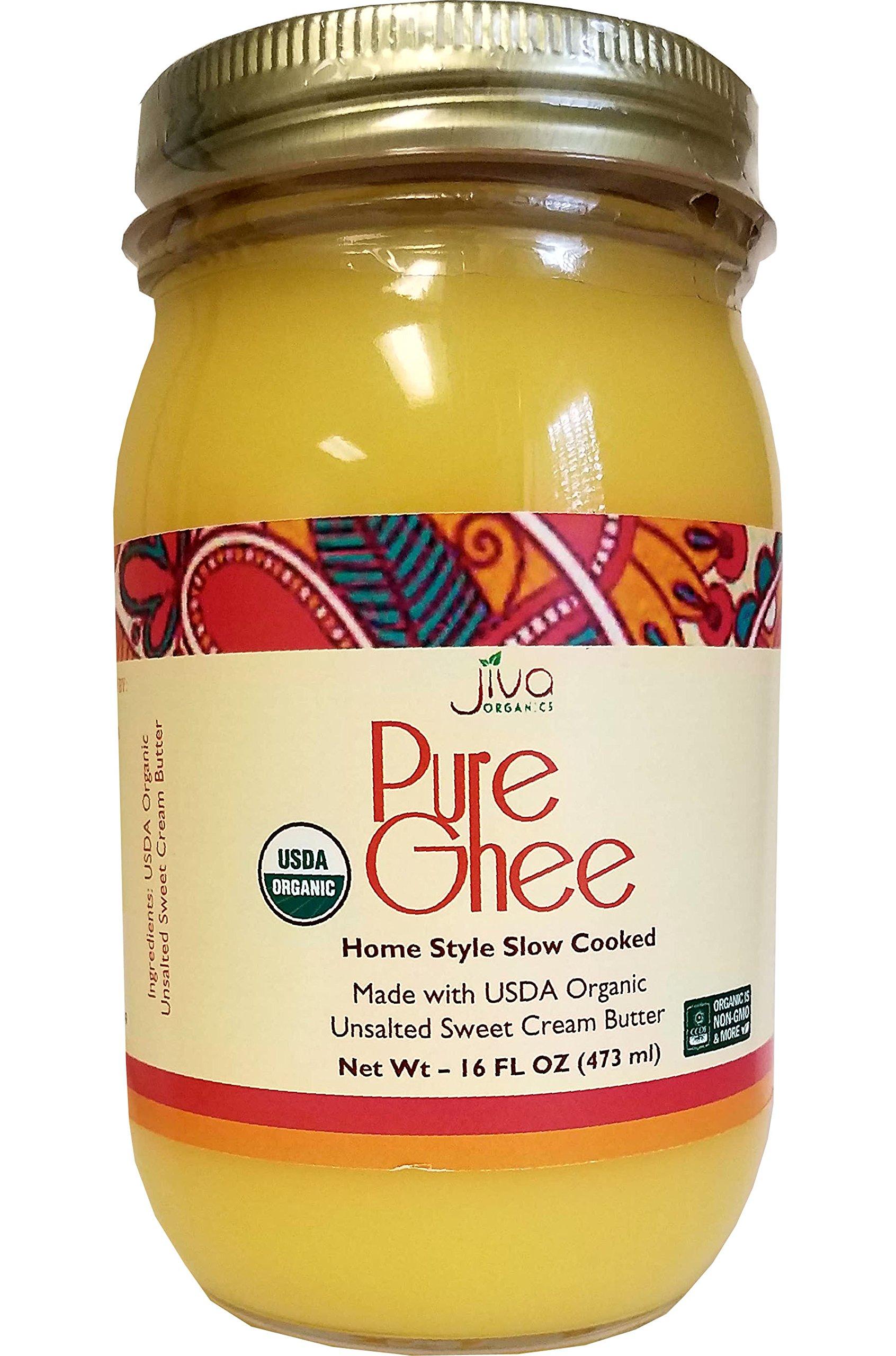 Jiva Organic Ghee 16-Ounce - 100% Pure, Artisan, Made in USA, Slow Cooked Method