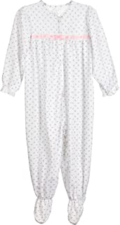 product image for Laura Dare Baby Girls Rosebud Jersey Long Sleeve Jumpsuit Pajama, 3m - 24m