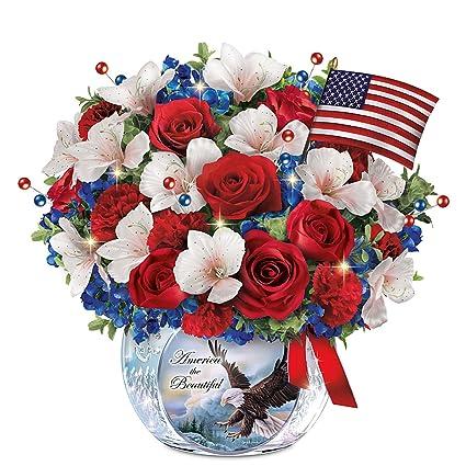 Amazon Com Patriotic Always In Bloom Floral Centerpiece With Larry