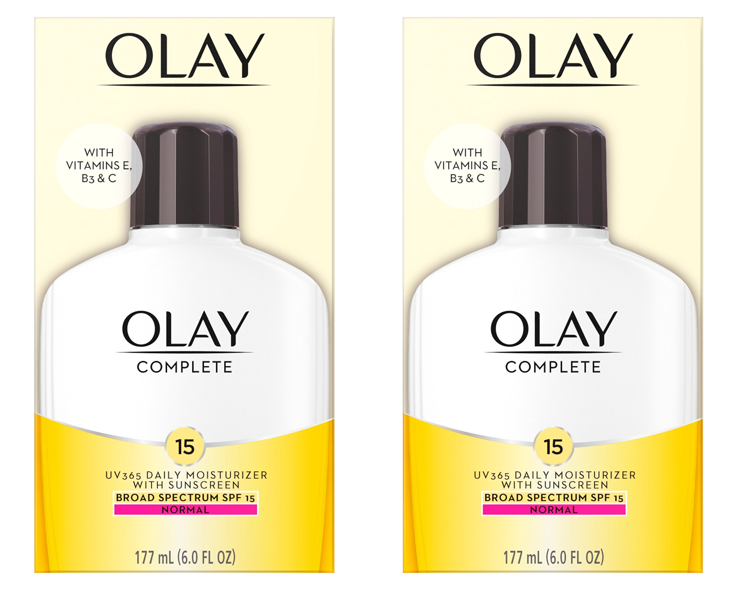 Face Moisturizer by Olay Complete Lotion All Day Moisturizer with SPF 15 for Normal Skin, 6.0 fl oz, Pack of 2 by Olay