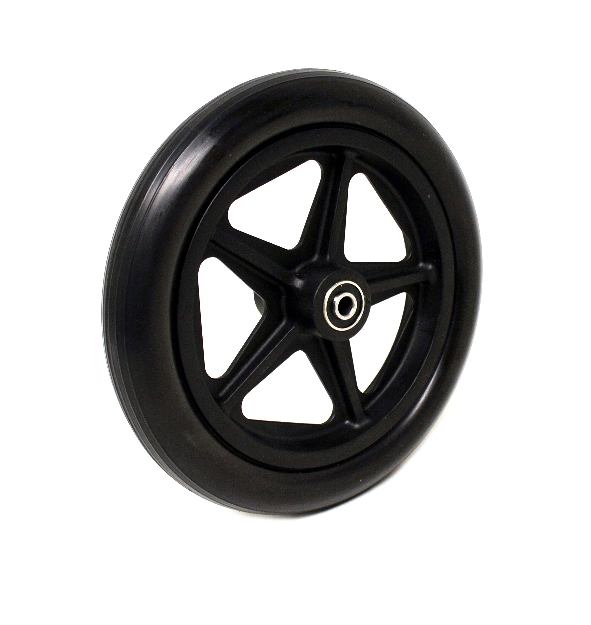 8'' x 1'' Front Wheelchair Wheel (Each), 1-13/16'' Narrow Hub Width, 5/16'' Bearing, Fits Some Drive, Medline, ALCO & Other Manual Wheelchairs (Please Measure Hub Width)