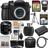 Panasonic Lumix DMC-GH4 4K Micro Four Thirds Digital Camera Body with 35-100mm Lens + 64GB Card + Case + Flash + Battery + Tripod + Filters Kit