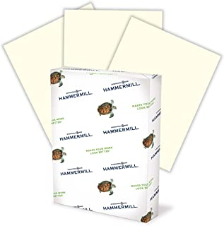 product image for Hammermill Colored Paper, 20 lb Canary Printer Paper, 8.5 x 11-1 Ream (500 Sheets) - Made in the USA, Pastel Paper