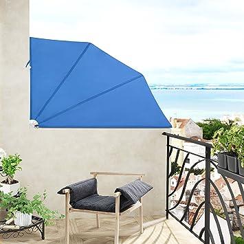 Jago Balkonmarkise Seitenmarkise Balkonfächer Sichtschutz In 3  Verschiedenen Größen Einzeln Oder Als 2er Set Mit