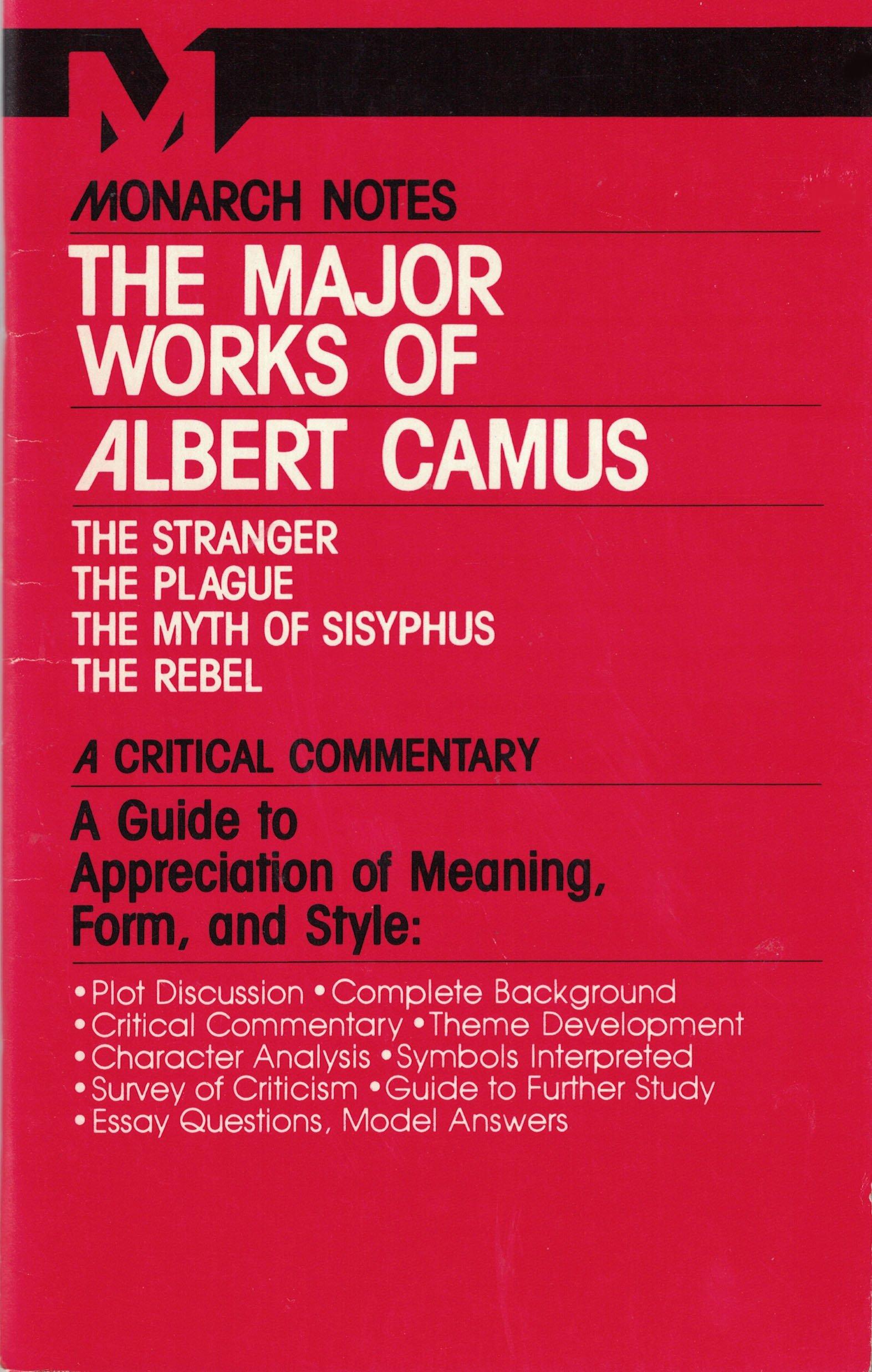 The Major Works Of Albert Camus Austin Fowler 9780671005528 Books
