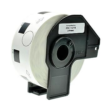 3x Runde kompatible Etiketten Rollen für Brother P Touch QL 650 TD 700 DK-11218