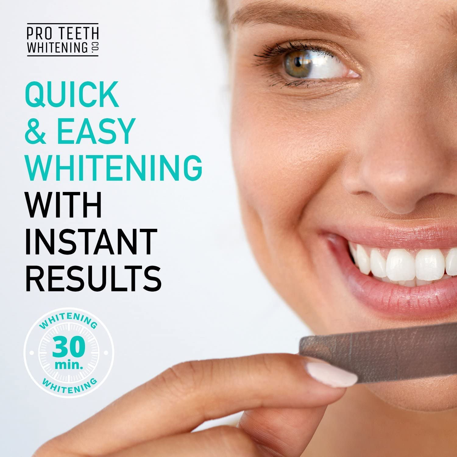 Teeth Whitening Strips with Activated Charcoal - Peroxide Free - Fast Tooth  Whitening Results - 28 Premium Strips for White Teeth - Formulated by UK  Dentists for Pro Teeth Whitening Co.: Amazon.co.uk: