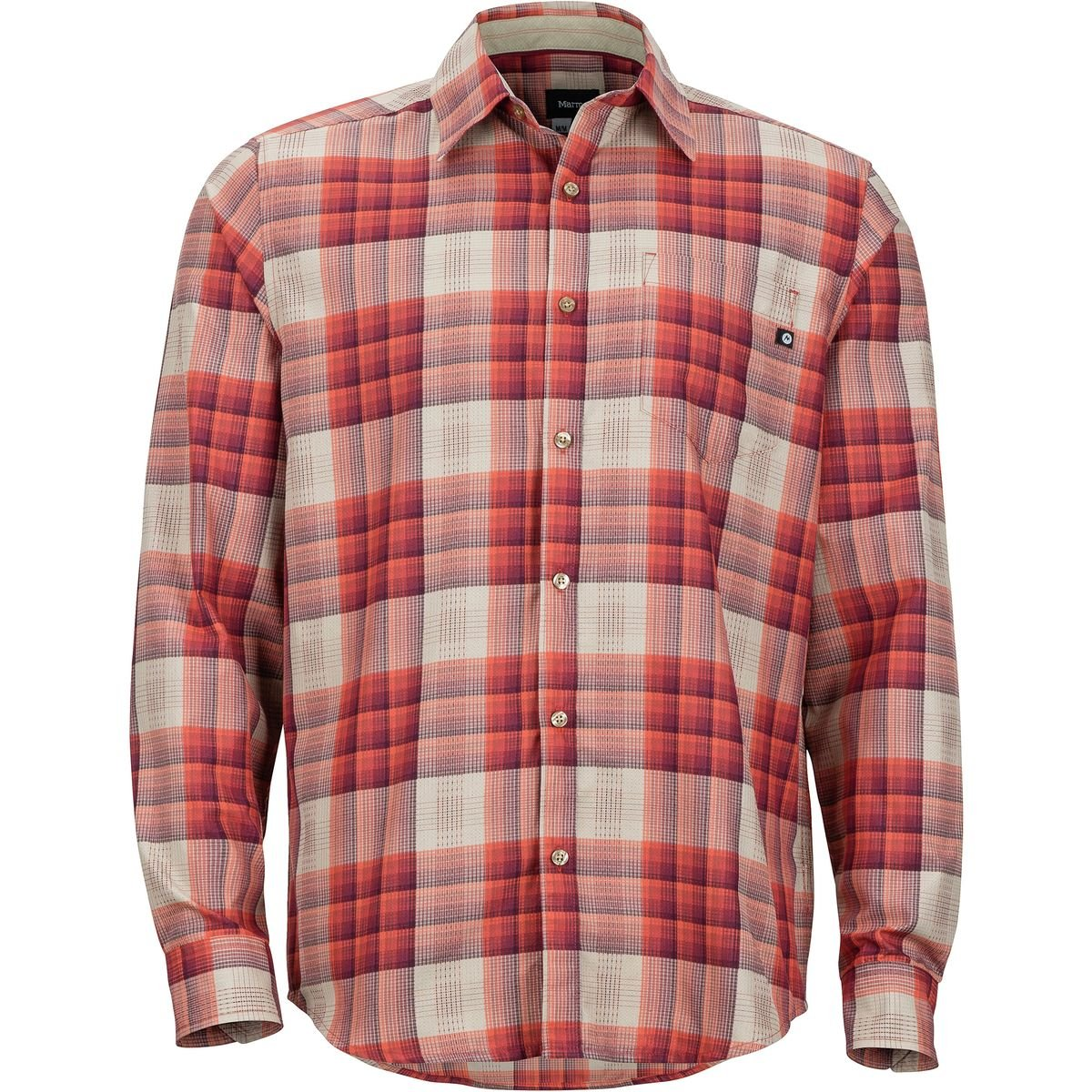 Marmot Zephyr LS Shirt Men Auburn 2018 Langarmshirt