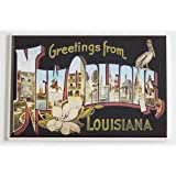 Greetings From New Orleans Fridge Magnet (2 x 3 inches)