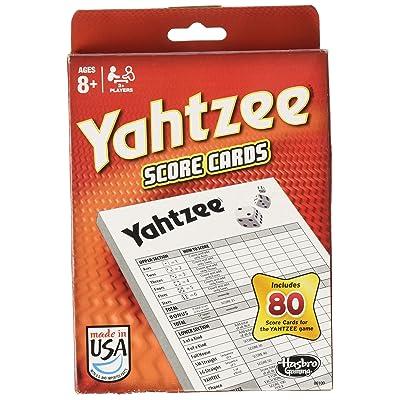 Yahtzee 80 Score Cards: Toys & Games