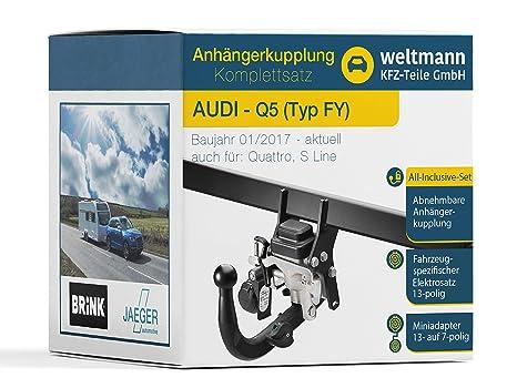 Weltmann Mundo Muñeco AHK Juego Completo Audi Q5 Tipo FY Brink abatible Remolque + fahrzeugspezifischer Jaeger