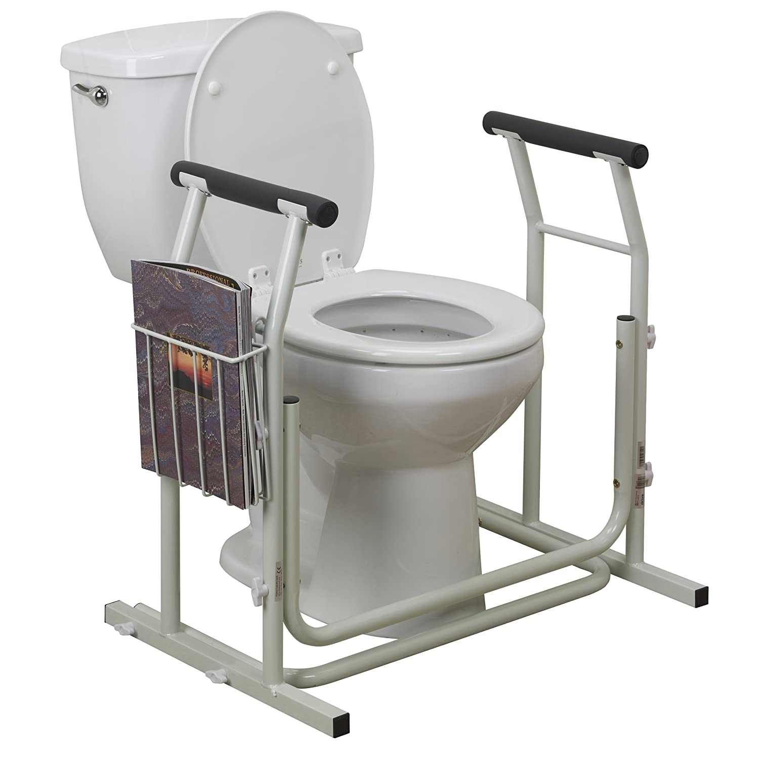 Amazon Drive Medical Stand Alone Toilet Safety Rail White