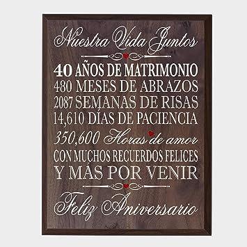 Amazon Lifesong Milestones Spanish 40th Wedding Anniversary