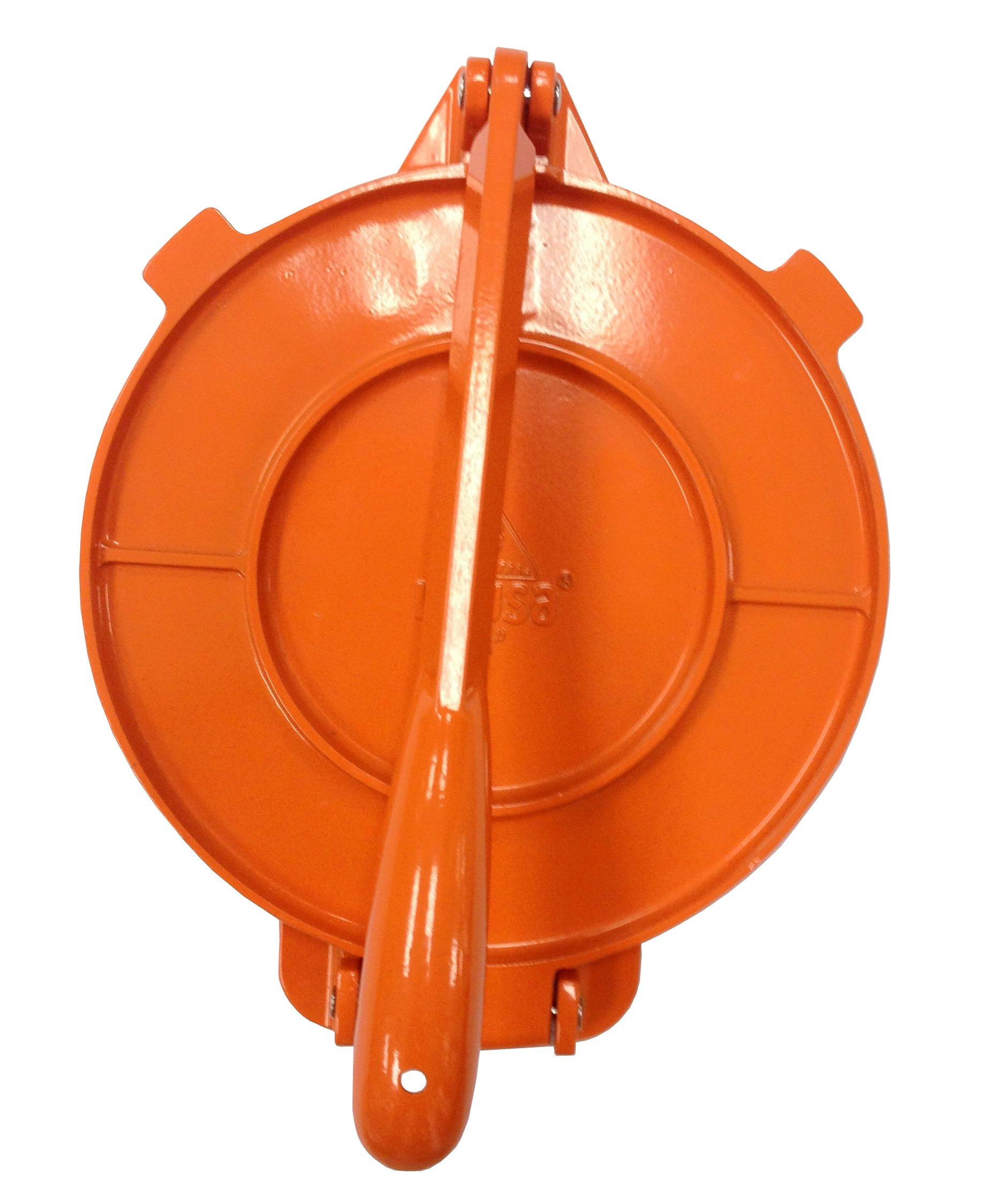 IMUSA USA MEXI-86016 Aluminum Tortilla Press 8-Inch, Orange