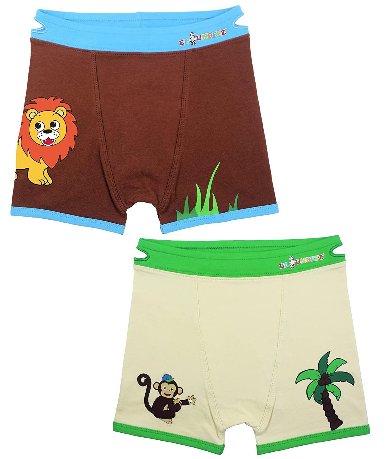 Boys Boxers Toddler Training Underwear with Easy Pull Up Handles Ez Sox
