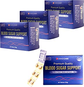 Pack of 4 DANGCARE Blood Glucose Support 500mg Tablets-Bitter Melon Tablets-Lower Cholesterol -Blood Sugar-3+1 ??? ??