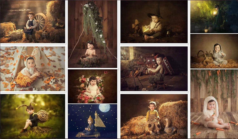 WaWbackdrop Christmas Photography Backdrop Bambini Bambino 7x5ft Di Natale Legno Tessuto Sfondo Festival Fotobooth