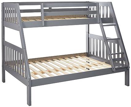 Amazon Com Donco Kids 11018 3tfdg Bunk Bed Twin Over Full Dark