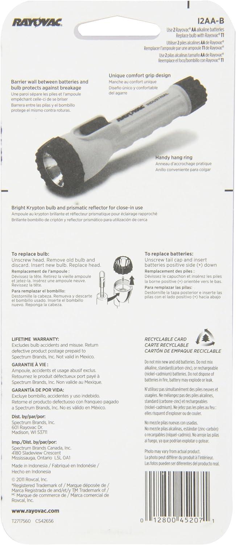 DEL 35 lm Rayovac pratiquement indestructible headlight 3 piles AAA Inc