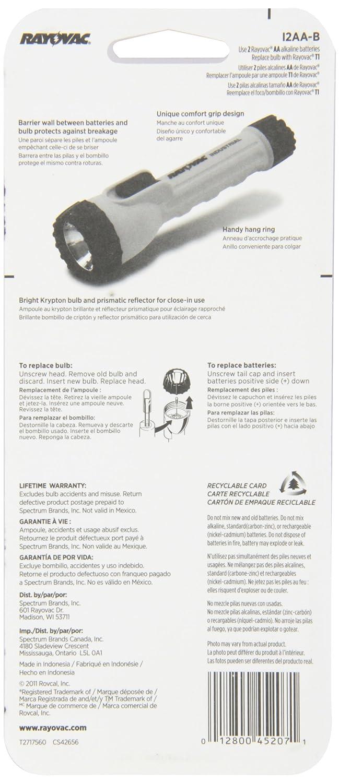 Rayovac Industrial 2AA Flashlight with Krypton Bulb, I2AA-B 2AA - Basic Handheld Flashlights - Amazon.com