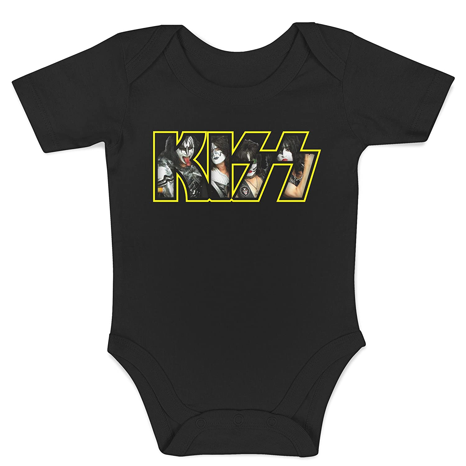 Body Metal Rock 100/% Cotone Neonato LaMAGLIERIA Baby Body Kiss Photo Texture