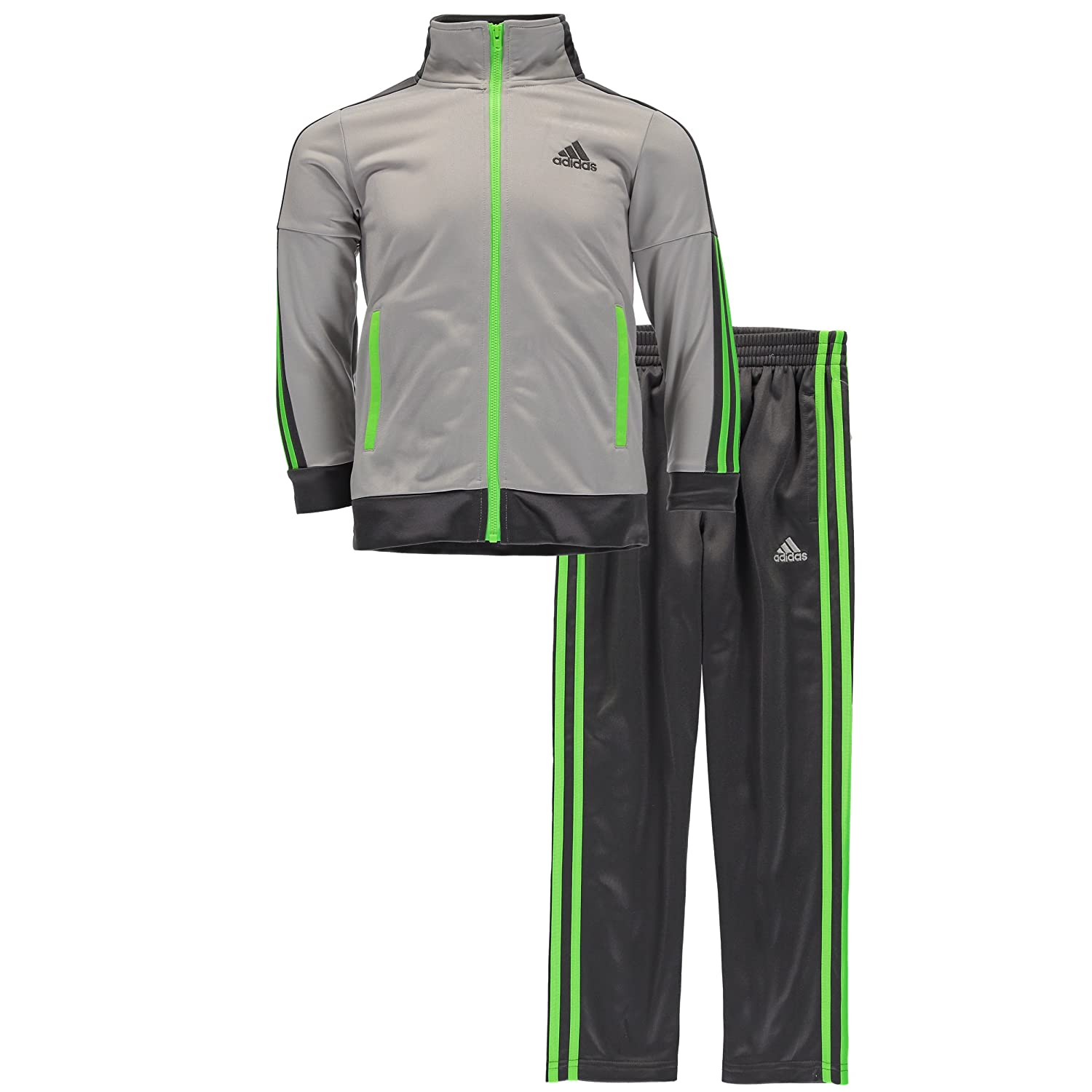 adidas Boys' Tricot Zip Up Jacket and Pant Set AG5780K01