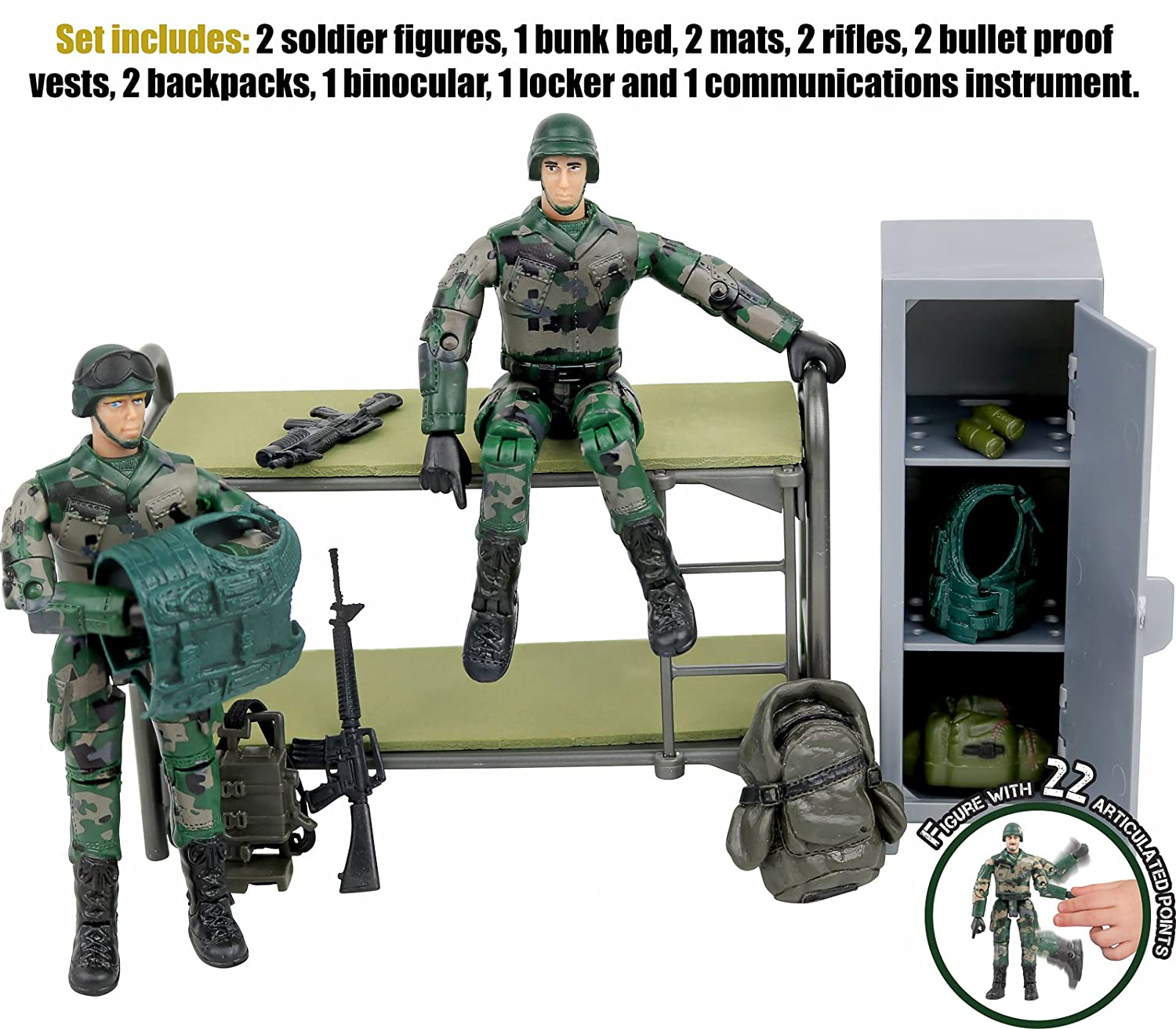 Amazon N Play Military Life Living Quarters Bunk Bed