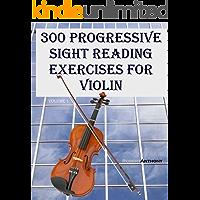 300 Progressive Sight Reading Exercises for Violin book cover