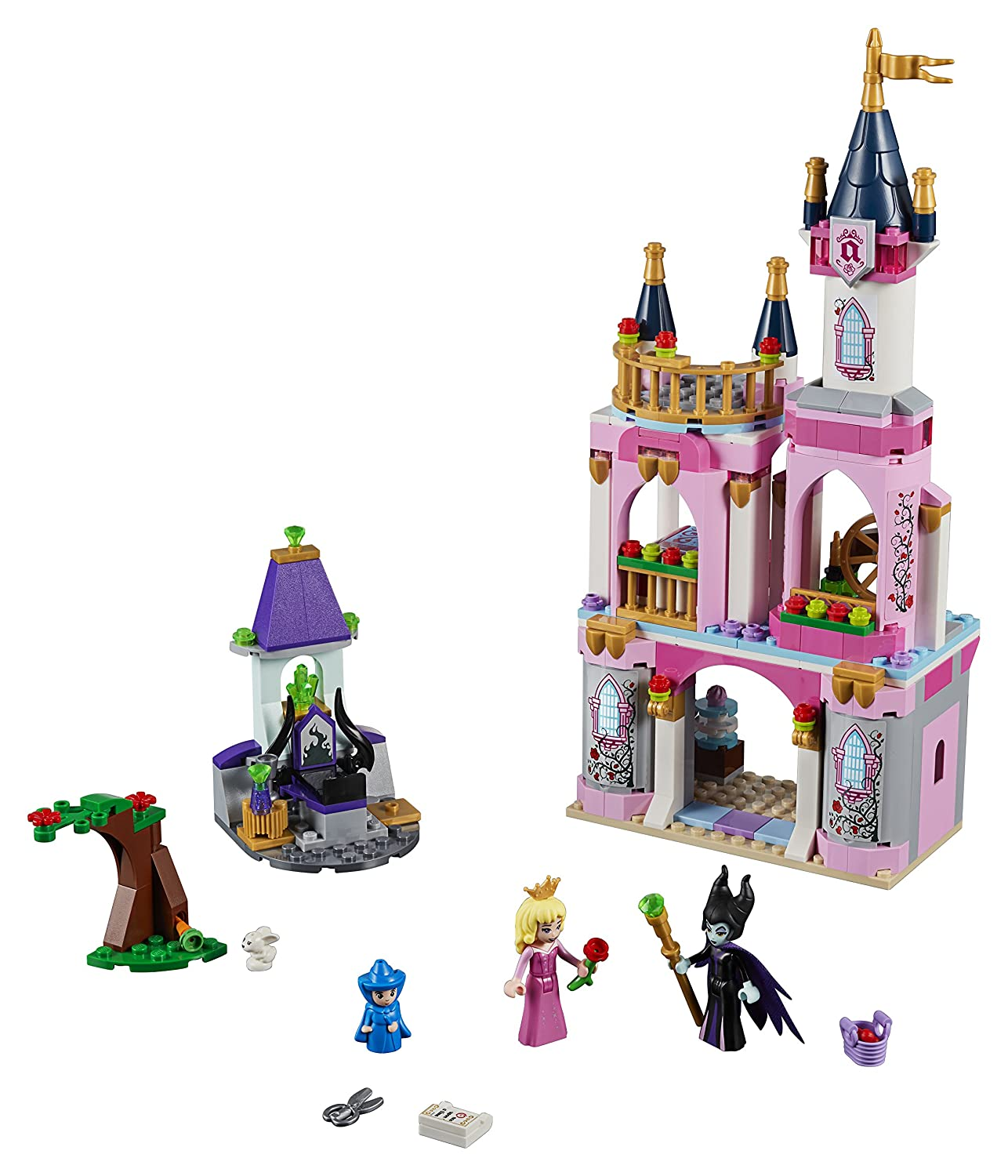 LEGO 41152 Disney PrInc.ess Sleeping Beauty's Fairytale Castle Toy with Aurora and Maleficent figures