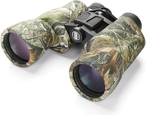 Bushnell PowerView 10 x 50mm Porro Prism Instafocus Binoculars, Realtree AP Renewed