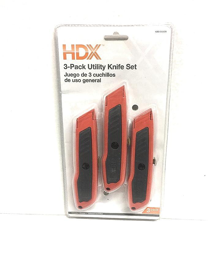 Amazon.com: Retractable Utility Knife Set (3-Piece): Kitchen ...