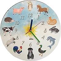 Niseko Reloj De Pared Infantil con Animales–inaudible.