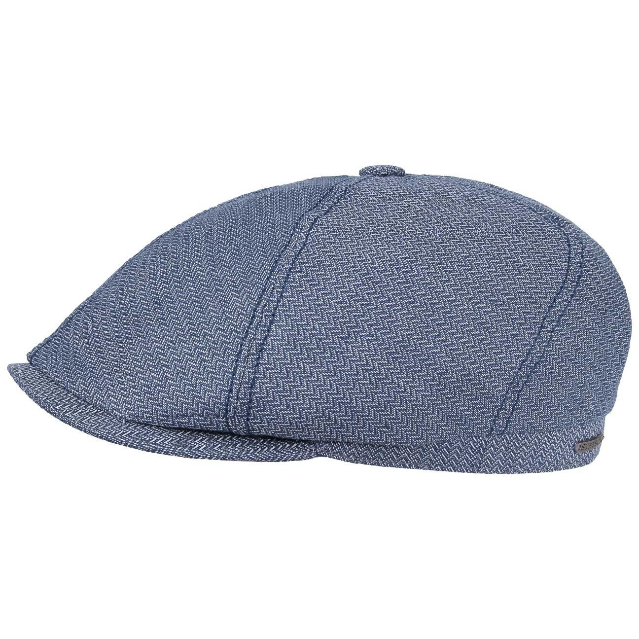 Made in The EU Stetson Brooklin Zigzag Flat Cap Men