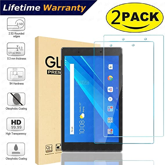 2-Pack Lenovo Tab 4 8 (Only Model:TB-8504F/N 2017 Release) Screen Protector  Glass - DHZ 9H Hardness Scratch Resistant Film Tempered Glass Screen