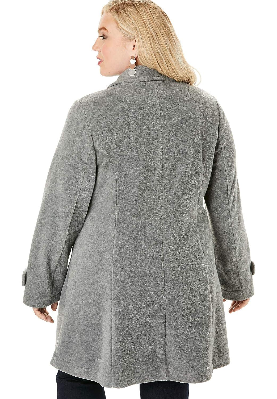 Roamans Womens Plus Size Plush Fleece Jacket